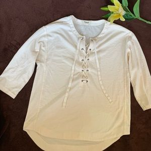 Madewell cream blouse